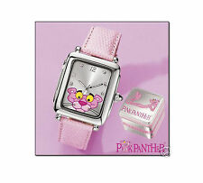 OFFICIAL LICENSED PINK PANTHER SPECIAL EDITION LADIES LEATHER WATCH - RRP $159 !