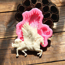 Pegasus Horse Silicone Fondant Cake Mould Chocolate Icing Decor Molds Sugarcraft