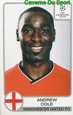 186 ANDREW COLE ENGLAND MANCHESTER UNITED STICKER PANINI CHAMPIONS LEAGUE 2002