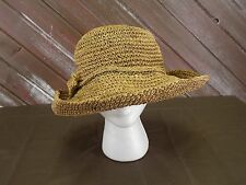 """Toucan CollectionStraw Hat New York Tan Woman's Vintage 8"""" X 8"""""""