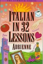 VINTAGE 1982 PB ITALIAN IN 32 LESSONS BY ADRIENNE NEW WITH RECEIPT!!