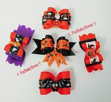 5 Dif Halloween Dog Pet Puppy Grooming bows Maltese Yorkie Biewer Poodle