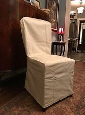POTTERY BARN Natural / Cream Dining Chair Cotton SLIPCOVER (1)