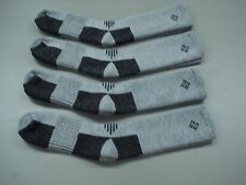 NWOT Men's USA Columbia Merino Wool Socks 4 Pair Size 10-13 Grey/Black #1000A
