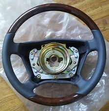 New Genuine Mercedes-Benz W210 E-Class Steering Wheel Leather & Walnut Wood