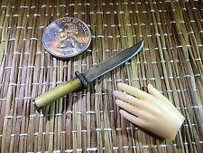 """""""Bone Handle Western Bowie E"""" 1:6 Scale  Custom Steel Miniature  Knife By Auret"""