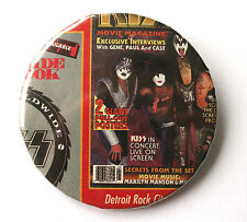 KISS  Large Button Pin Badge (not patch cd lp shirt) MR029