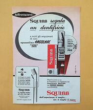 D048 - Advertising Pubblicità - 1959 - SQUIBB REGALA UN DENTIFRICIO