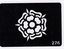 GT276 Body Art Temporary Glitter Tattoo Stencil Tudor Rose