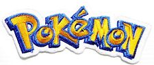 """Pokemon TEXT EMBROIDERED Patch Sew Iron on 4.75""""X 1.75"""""""