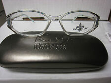 FLEUR DE LIS Eyeglass Frames MOON GLOW  DEMO in BLUE  52-15-130 With free case