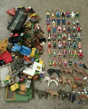 Huge playmobil lot of 50 figures plus tons of accessories zombies animals advent