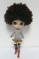 "Takara 12"" Neo Blythe from Factory Nude doll Brown short curly hair SD59 + stand"