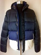 NWT AJ Armani Jeans Light Weight Puffer Jacket Blue/White EU 54 USA sz XL