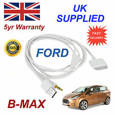 FORD B-MAX 1529487 3GS 4 4s für Apple iPhone iPod USB & 3.5mm Aux Kabel Weiß