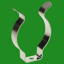 """50x T8 Fluorescent Tube Holders 1""""-1.5"""" Terry Clips for Clip on Tools, pipes etc"""