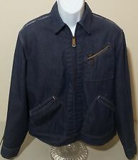 Lee Vintage VTG 70s Lightweight Full Zip Denim Jean Jacket Mens L USA Selvedge