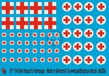 Peddinghaus 1/48 Red Cross Markings for Vehicles and Ambulances (2 types) 1196