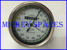 Brand New Royal Enfield Smiths Replica Speedometer 0-120 miles/hr White