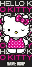 Hello Kitty Dots 100% Cotton Beach Towel ( FLORIDA NAMEDROP)