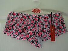 Pantalones cortos de Impresión Floral Rosa/Negro 10/12