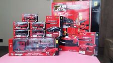 Shell V-Power Ferrari Passion Series 1/43 burago NEW FULLset with racing garage
