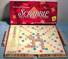 1999 Milton Bradley Scrabble Crossword Game Complete & Ready to Play!