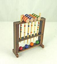 Dollhouse Miniature Croquet Set Toy, S7385