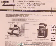 Dayton Blower Gas Unit Heaters with Electric Ignition, 3E389 thru 3E392 Manual