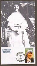2010 MOTHER TERESA ~ USA STAMP ~ BGC#4 FDC