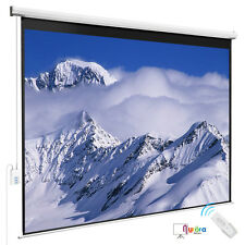 100''Projection White Screen 4:3 Electric Remote Control HD Movie Theater Matte