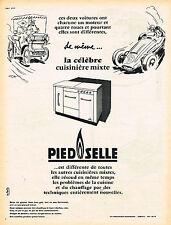 PUBLICITE ADVERTISING 015  1956  PIEDSELLE   la cuisinière mixte