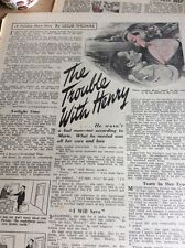 T1-6 Ephemera 1958 Short Story The Trouble With Henry Leslie Thomas