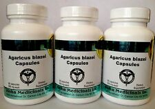 100% Organic,500mg 90 Pure Agaricus blazei capsules,Aloha Medicinals (3-bottles)