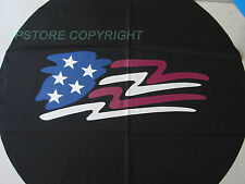 "SPARE TIRE COVER 29.5""-31.5 w/ American Flag DF7618G R16"