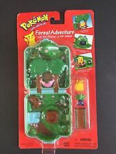 Pokemon Forest Adventure Micro Playset w/#25 Pikachu & #43 Oddish by Hasbro