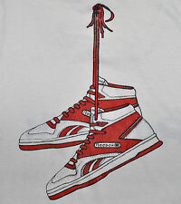 Vintage 80s REEBOK Basketball Sneakers Graphic TANK TOP Sleeveless T SHIRT L XL