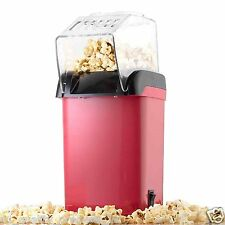 Popcorn Maker - Babz Red - Oil Fat Free Healthy Popcorn Machine, Electric, BNIB