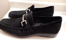 Calvin Klein Men's Suede Slip On Loafers Driving Moccasins Shoes, Black, Sz 11.5