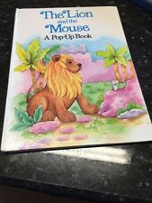 The Lion and the Mouse (hc) Pop Up Book Vtg Rare