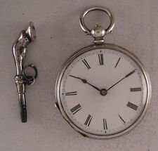 AMAZING 130-Years-Old Cylindre KW/KS Swiss SILVER Pocket Watch Perfect Serviced