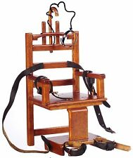 "Dollhouse Miniature - ""Old Sparky"" Electric Chair 1/12th Scale"