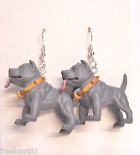"NEW Blue Pitbull Pit Bull Terrier Dogs 1.5"" Hood Hounds Figures Dangle Earrings"