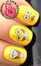 NAIL ART WATER TRANSFERS STICKERS DECALS SPONGEBOB SQUAREPANTS FUNNY FACES #64