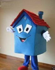 New: Blue House Mascot Costume For Festival/Hallooween