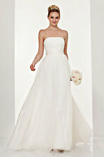 NEW THEIA  Embellished Strapless Organza DRESS  GOWN Size 6 $995 WEDDING IVORY