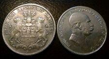 Lot of 2 Euro Silver Coins: 1909 Austria 5 Corona & 1903 Hamburg Germany 5 Mark