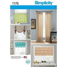 SIMPLICITY SEWING PATTERN CURTAINS STATIONARY ROMAN SHADE CAFE CURTAIN   1176