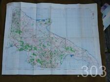 WWII British Army Military RAF Map of Napoli, Naples, Italy