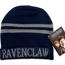 Harry Potter Ravenclaw Stripes Knit Beanie Hat Cap Deathly Hallows Costume UK